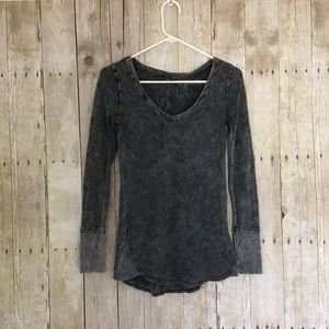 NWOT Free People Long Sleeve Waffle Top